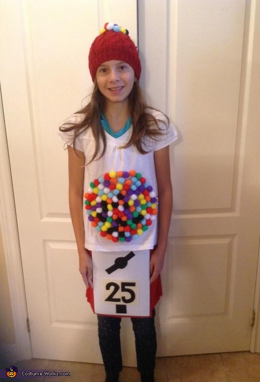 Gumball Machine girl, Harvey's Poutine and Gumball Machine Costumes
