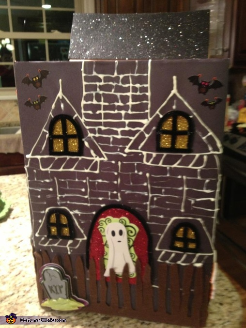 Sarah Haunted House FRONT PANEL, Haunted House Costume