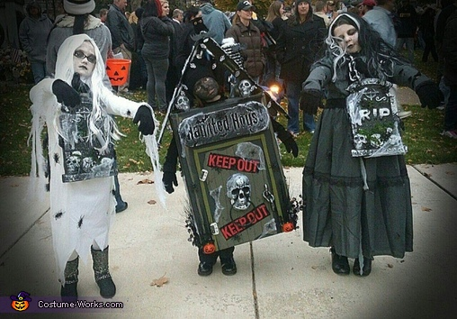 Haunted House and Zombies Costume