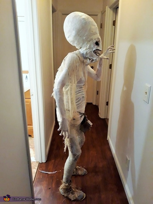 Profiles of a mad alien, Hauntingly Memorable Alien Costume