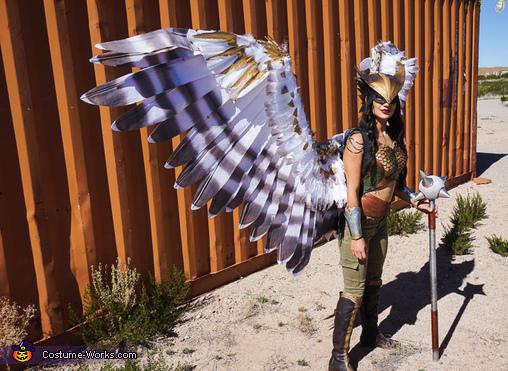 Hawkgirl Wing Details, Hawkgirl Costume