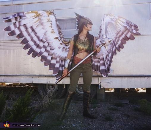 Hawkgirl Helmet Details, Hawkgirl Costume