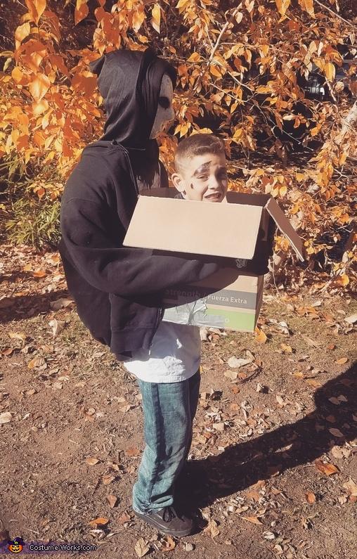 Head in a Box Illusion Costume