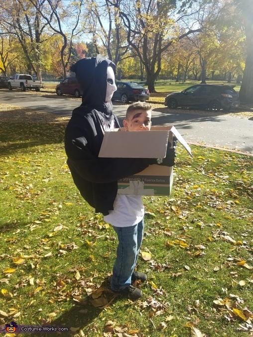 Head in a Box Illusion Homemade Costume