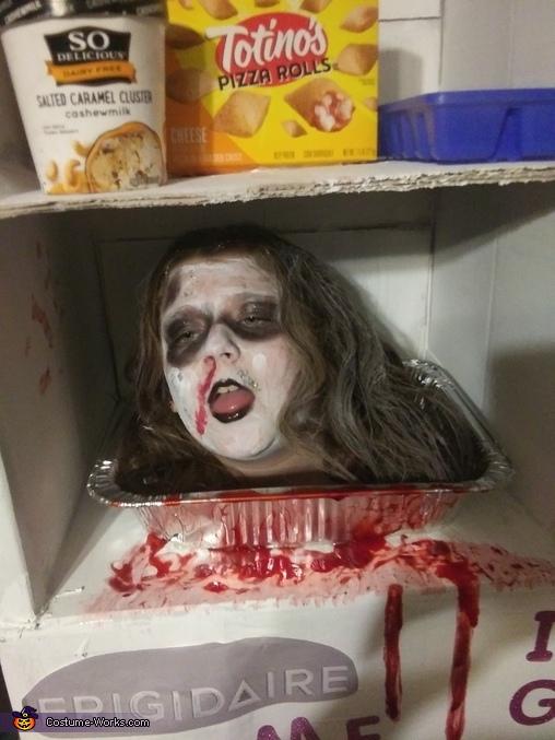 Head in a Freezer Homemade Costume