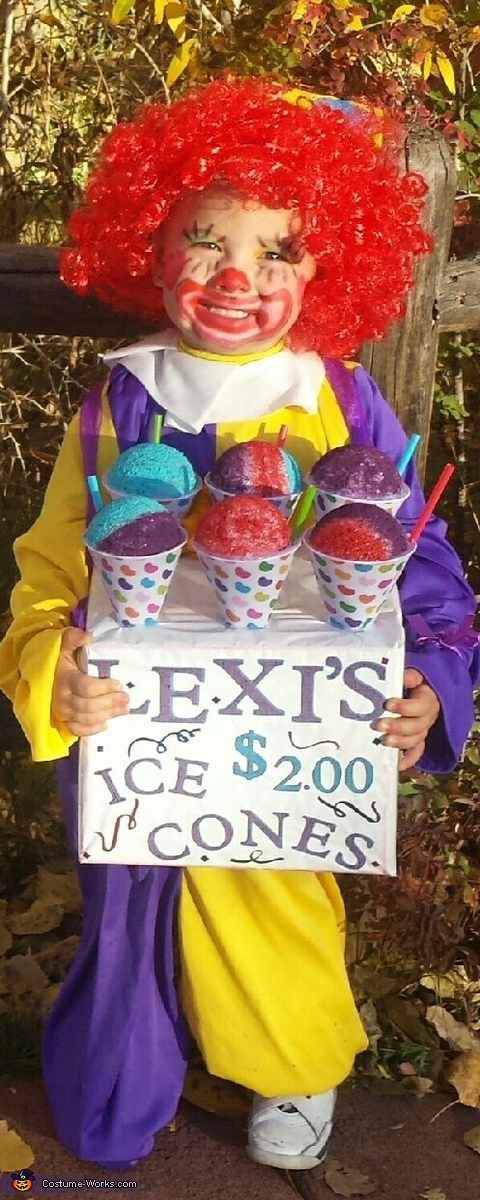 Ice cones, Head in a Jar Costume