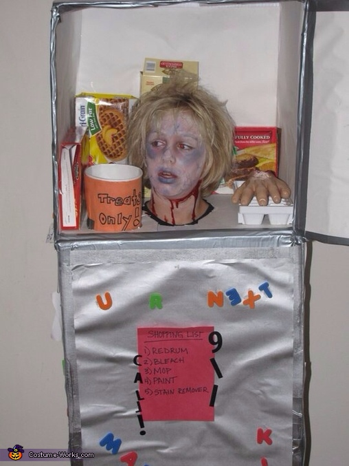 Head in Refrigerator Costume