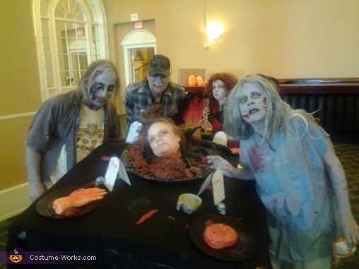 all my walker friends..its zombie dinner time!, Head on a Platter Costume