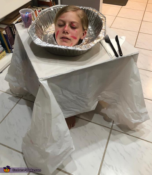 Head on a Table Costume