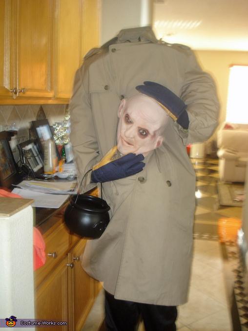 Headless Bald Guy Costume