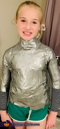 T-Shirt with duct tape to build a torso, Headless Bride Costume