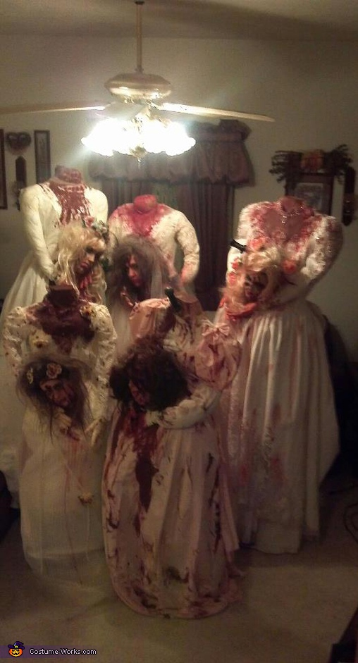 Headless Brides - Homemade costumes for groups
