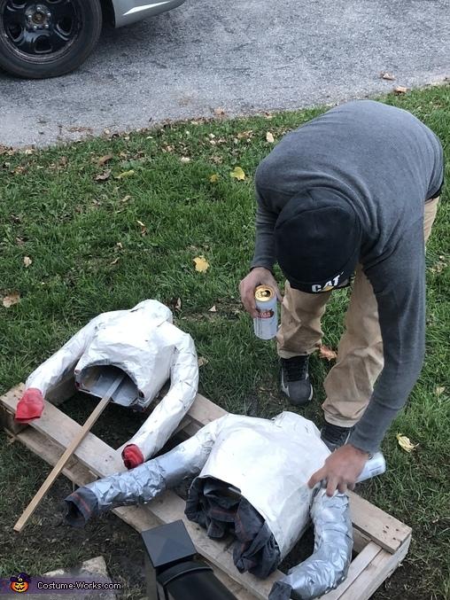 Headless Couple Homemade Costume