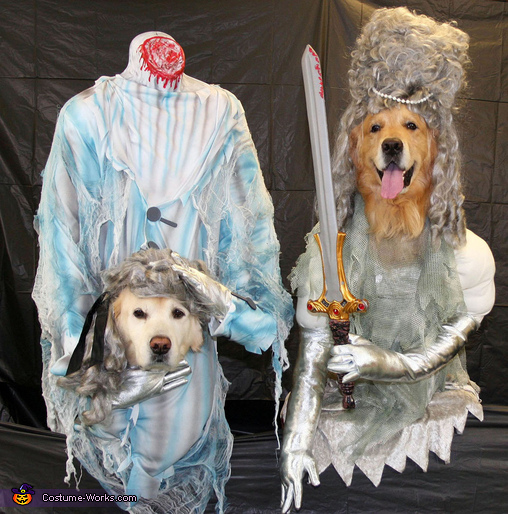 Headless Ghosts of the 1700s - Homemade costumes for pets