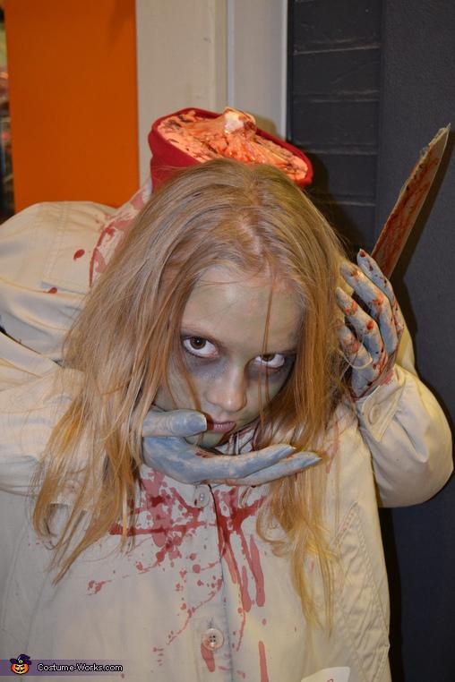 Headless Hannah close up, Headless Girl Costume