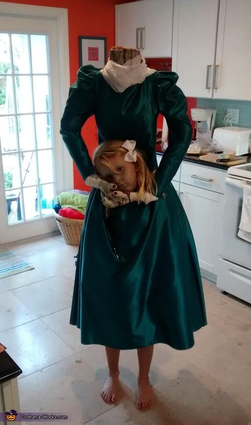 Homemade Headless Lady Costume