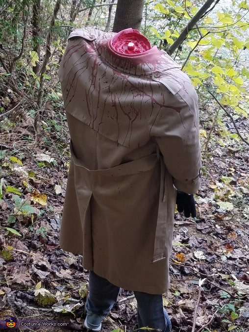 From the back, Headless Lawyer Costume