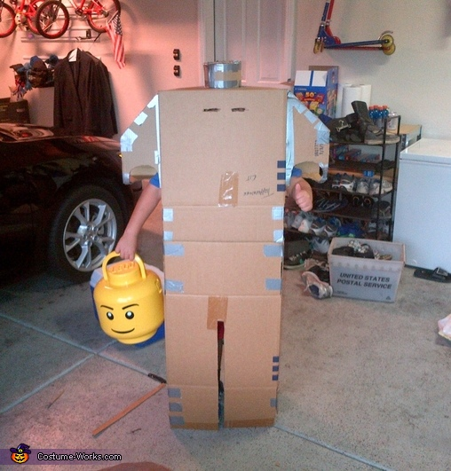 Headless Lego Guy Homemade Costume