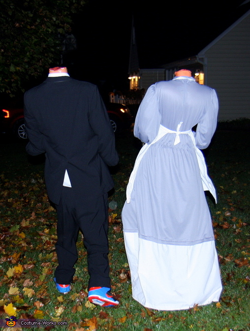 Headless Maid and Butler from the back, Headless Maid Costume