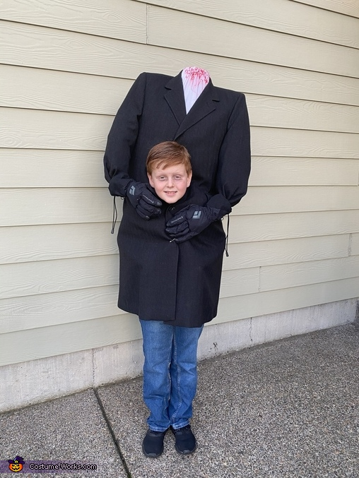 All ready to go, Headless Man Costume