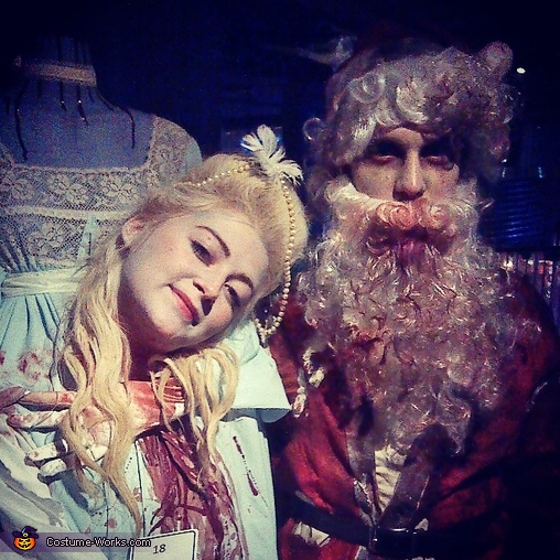 Headless Marie and her boyfriend, Zombie Santa, Headless Marie Antoinette Costume