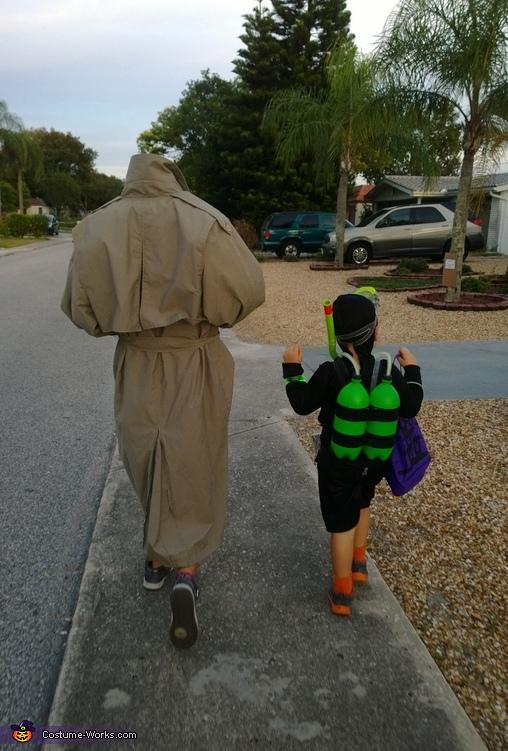 Headless Trick-or-Treater Homemade Costume