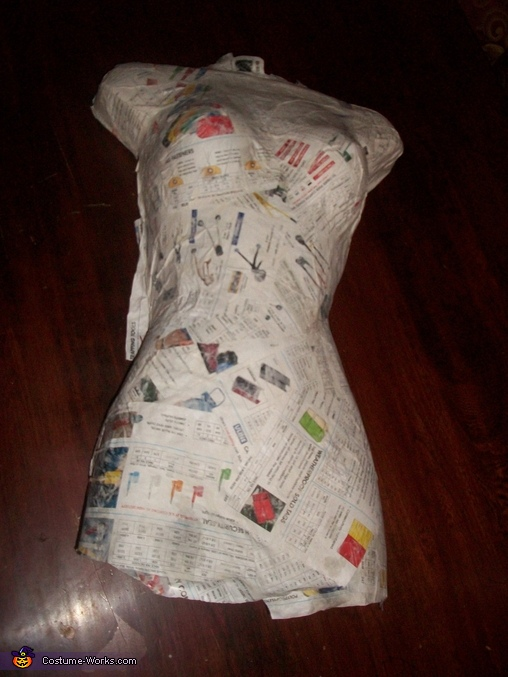 Paper Mache torso, Headless Woman Costume