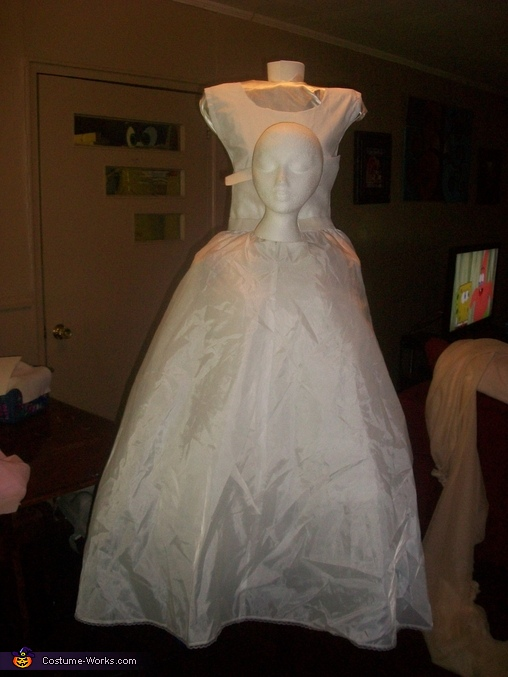 Added crinoline, Headless Woman Costume