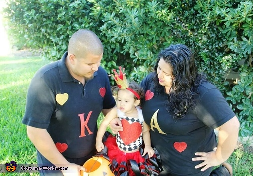 Hearts Family Homemade Costume