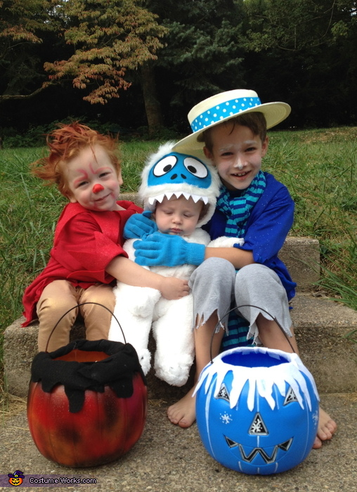 The Heat Miser, the Snow Miser and baby Bumble Snow Monster Costume