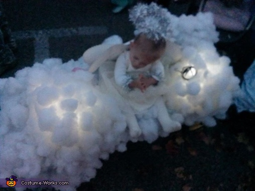 showing the lights, Heavenly Angel Costume