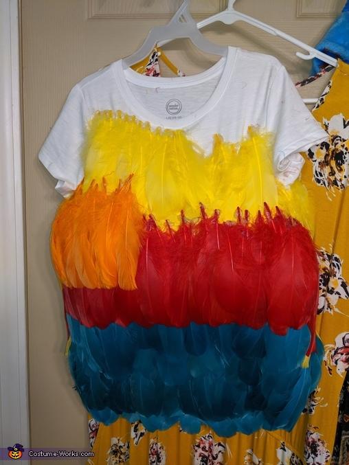 Beginnings of the layers, Hei Hei and Moana Costume