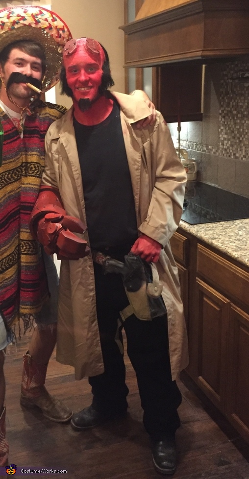 hellboy homemade costume