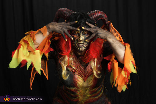 Firey eyes, Hellion Demon Costume