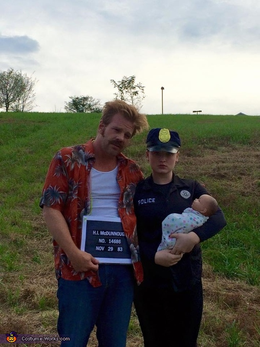 "HI, Ed, and Nathan Jr., H.I. and Edwina McDunnough from ""Raising Arizona"" Costume"