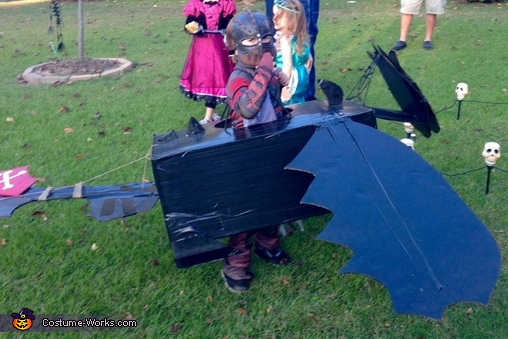 Hiccup and Toothless Homemade Costume