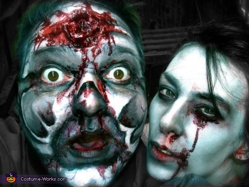 Close up zombie faces, Hide and Seek Zombies Costume