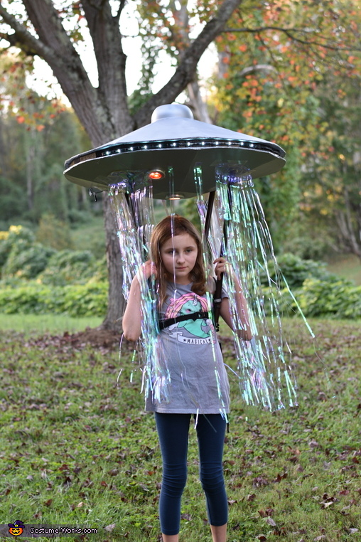 Hiker being abducted by a UFO Homemade Costume