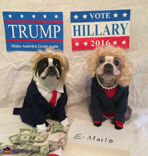 Hillary and Trump Costume