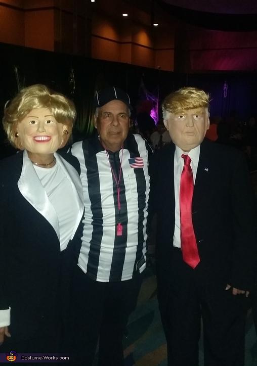 Hillary, Trump and Referee Costume