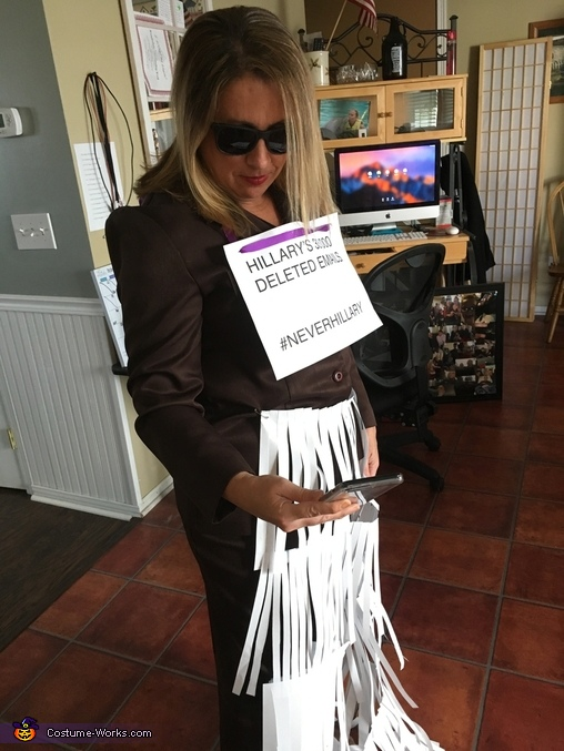 Hillary's Deleted Emails Costume
