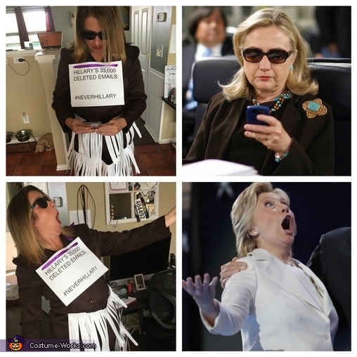 Hillary's Deleted Emails Homemade Costume