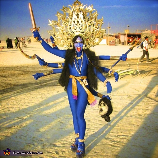 The Hindu Goddess Kali, Hindu Goddess Kali & God Shiva Couples Costume