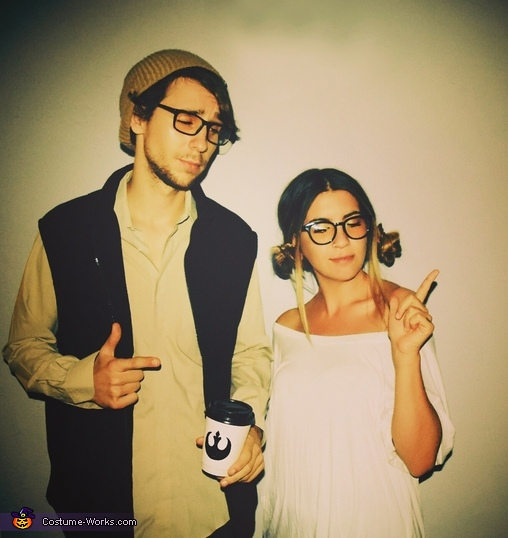 Hipster Han Solo Princess Leia Costume Diy Tutorial