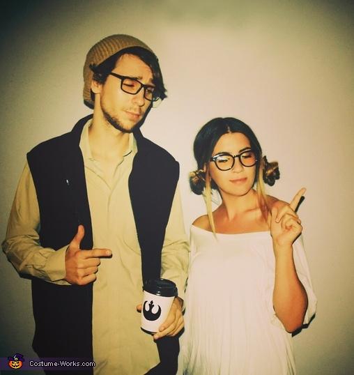 Hipster Han Solo & Princess Leia Costume
