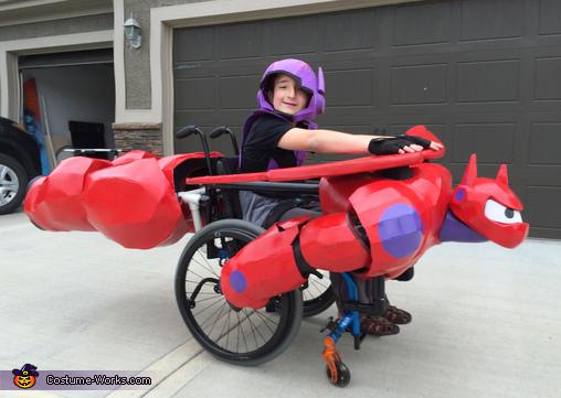 Hiro riding Baymax Costume