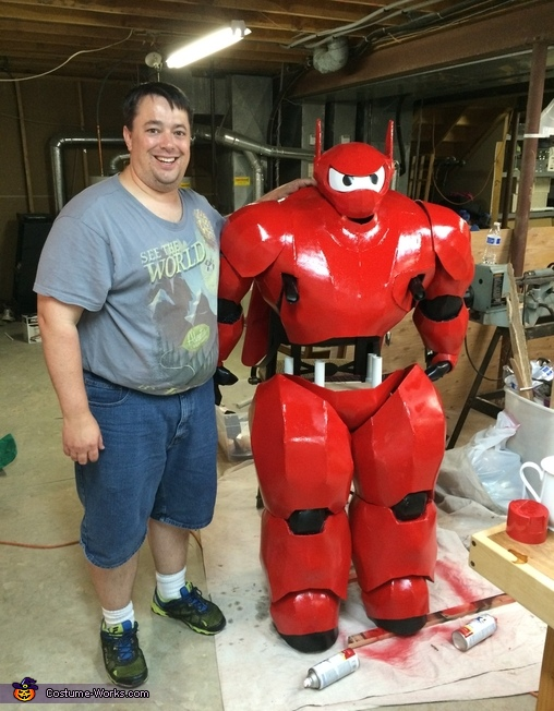 For comparison, I'm 6' tall., Hiro riding Baymax Costume
