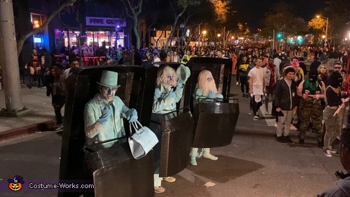 Out in the street, Hitchhiking Ghosts from Disney's Haunted Mansion Costume