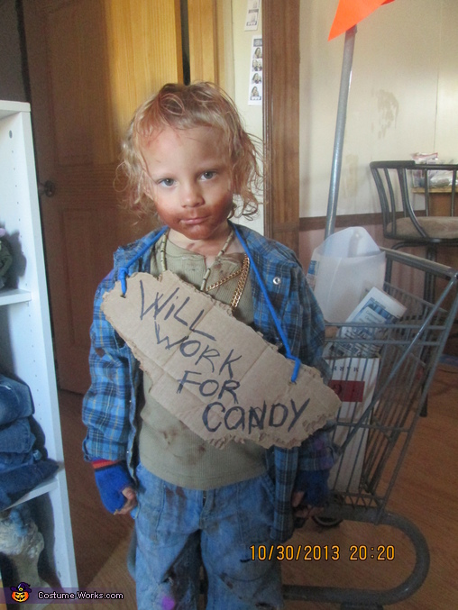 i will work hard for candy!, Hobo Costume