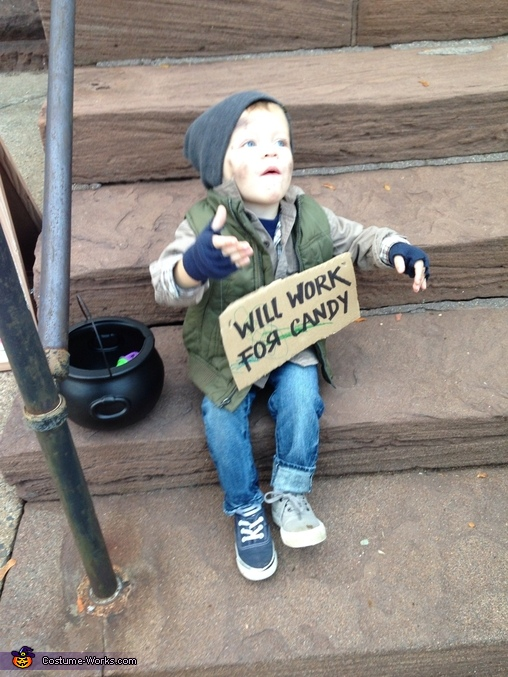 Will Work for Candy Hobo Baby Costume